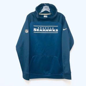 Navy Blue Nike Seahawk Army Hoodie Men Size Large